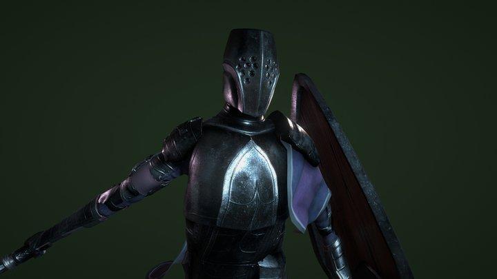 Dark Iron Knight 3D Model