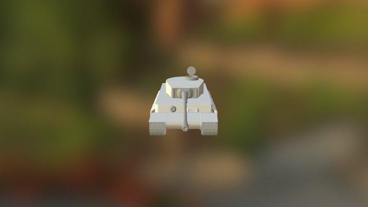 Tiger Tank 1_hp_v2 3D Model
