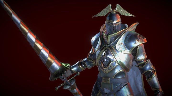 Spear Knight 3D Model