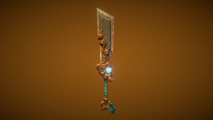 Greatsword of Frozen Hells Fan-Art 3D Model