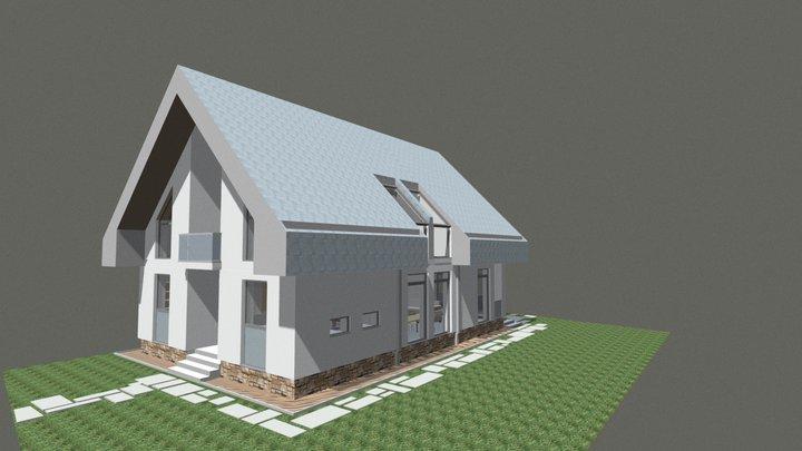 gronn house. Passive Sun House 2017. 3D Model