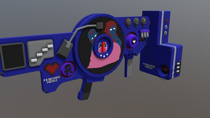Dubstep Gun (Pegboard Nerds Edition) 3D Model