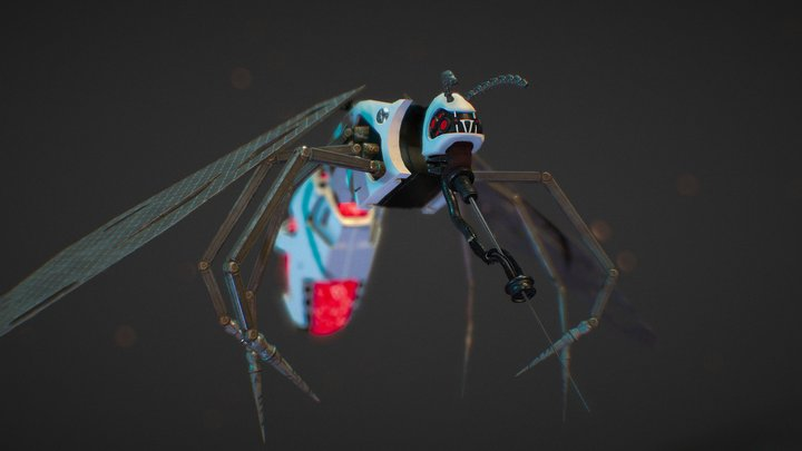 Cyber Mosquito Bug 3D Model
