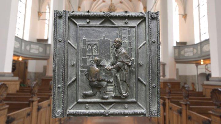 Veitsdom Prague bronze sculpture 3D Model