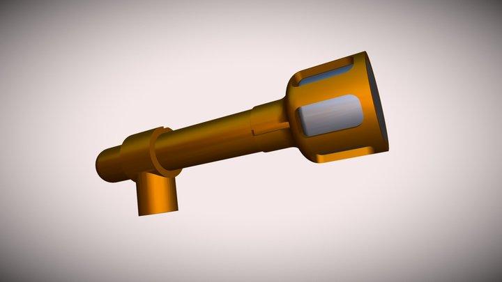 3D Printed DIY Mic with WM-61 electret 3D Model