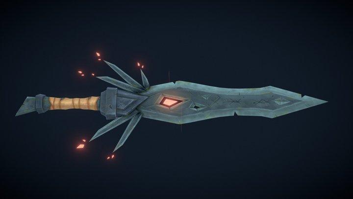 Stylized Cursed Sword 3D Model
