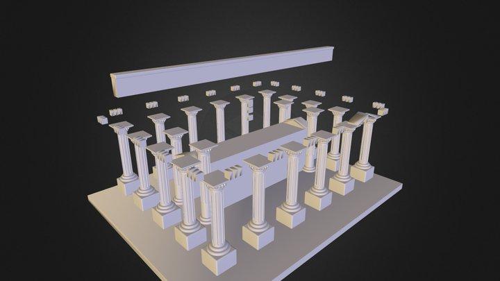 M M1201-1 P 1405035 Ng Glad Den Greek Temple 3D Model