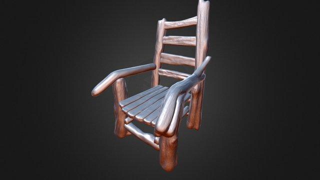 Driftwood Chair 3D Model