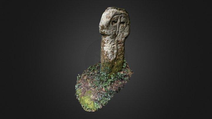 Trewidden medieval wayside cross 3D Model