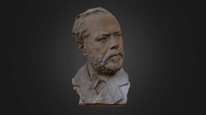 (For Mobile) Mezzo busto di Filippo Palizzi 3D Model