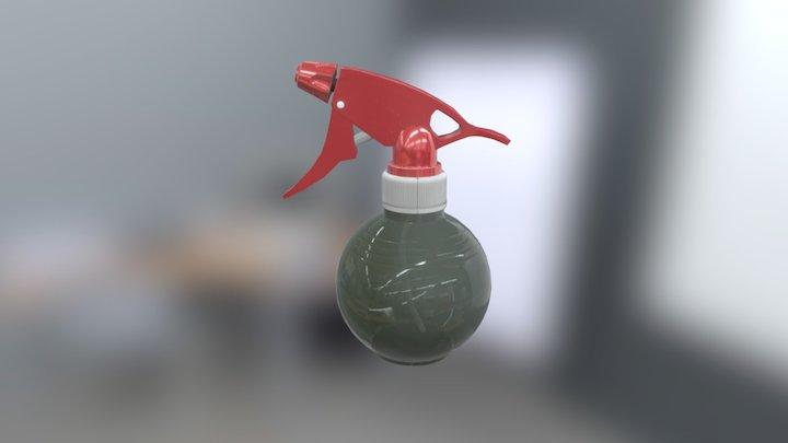 Spray plastic bottle 3D Model