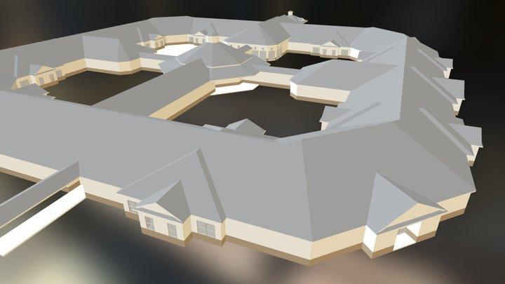 Single-Story Office Complex 3D Model