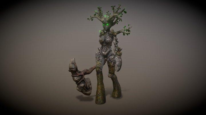 Female Earth Elemental 3D Model