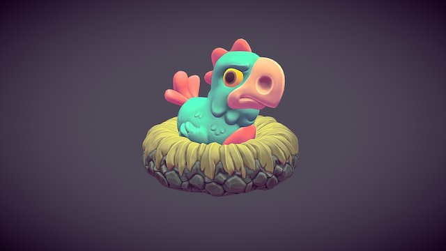 Agitated Fowl 3D Model