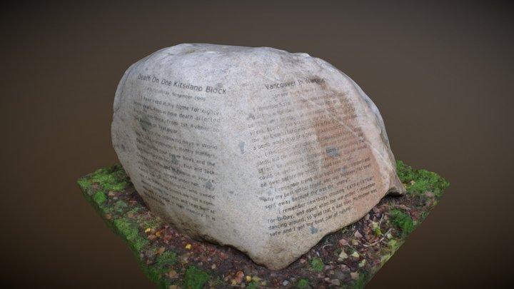 War Memorial Rock 3D Model