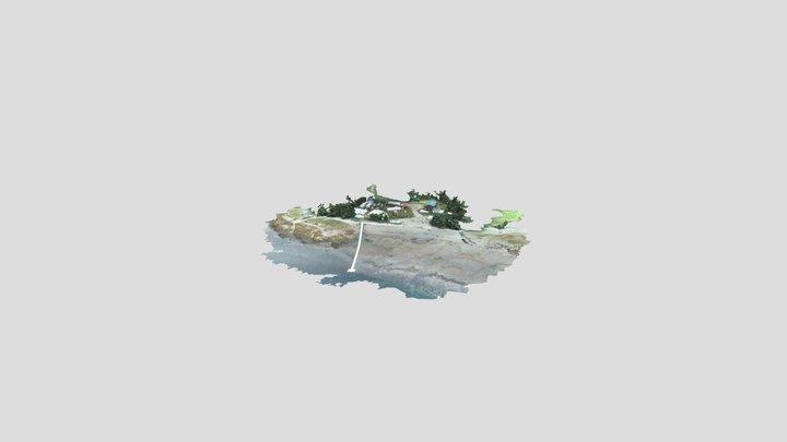 Level Island Barge Landing 3D Model