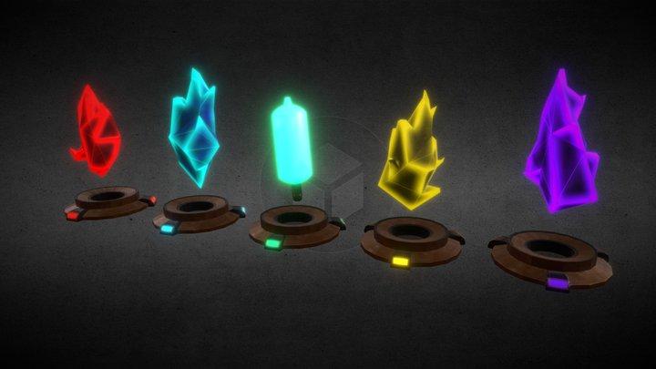 Pick-ups: Ammo and Health 3D Model