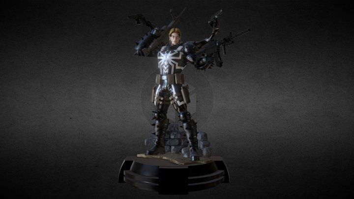 Agent Venom Statue 3D Model