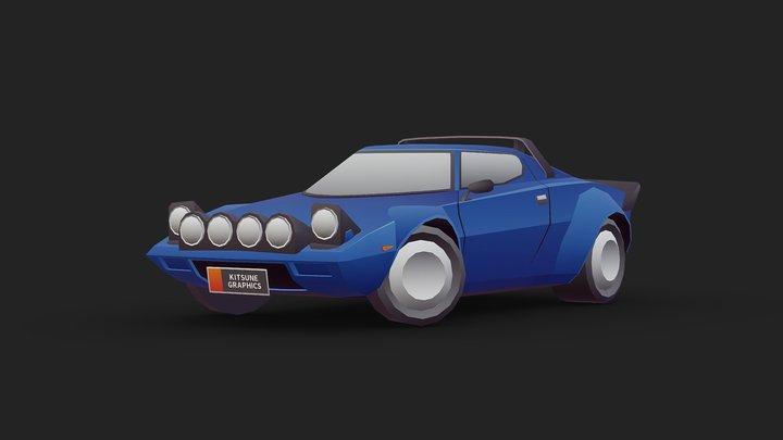 Vehicle - Lancia Stratos (1974) 3D Model