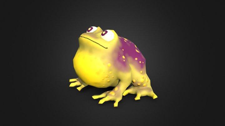Toony Toad 3D Model