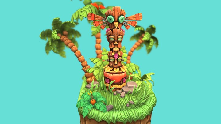 The Tooki Totem from Stitchy in Tooki Trouble 3D Model