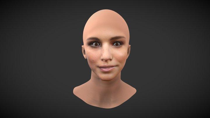 Natalie Portman - Facesoft Reproduction 3d Model 3D Model