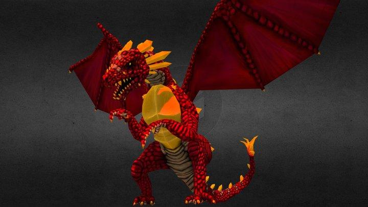 Behind Dragon 3D Model