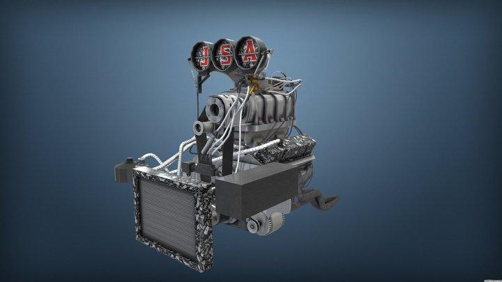 Burnout Masters Engine 4 3D Model