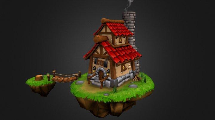 Small Island House 3D Model