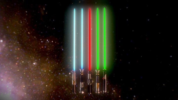 Lightsaber Pack (Star Wars) 3D Model