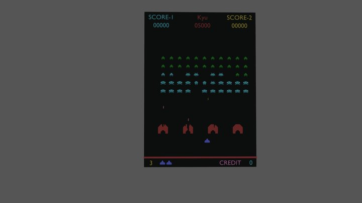 Space_Invaders - Arcade challenge 3D Model