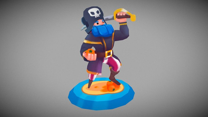 Pirate Captain - Codigames Art Test 3D Model