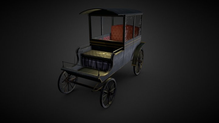 Victorian Carriage 3D Model