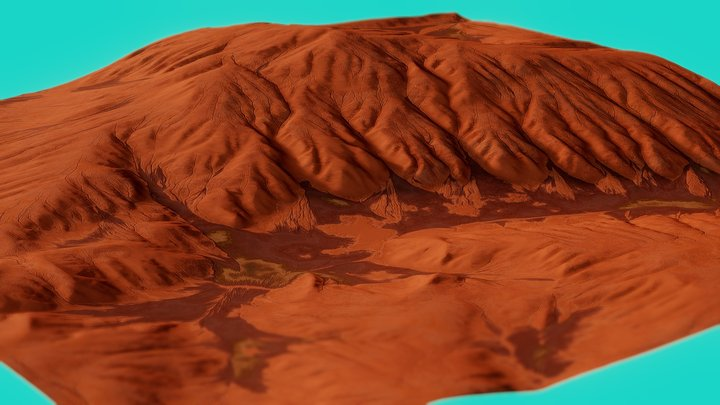 Mars Landscape 3D Model