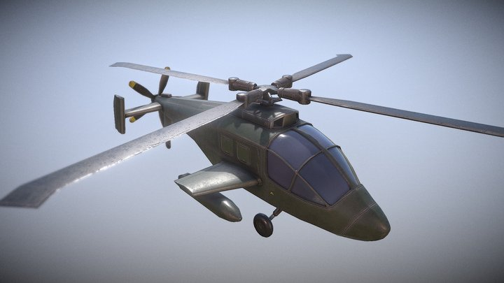 Military Chopper - Low Poly 3D Model