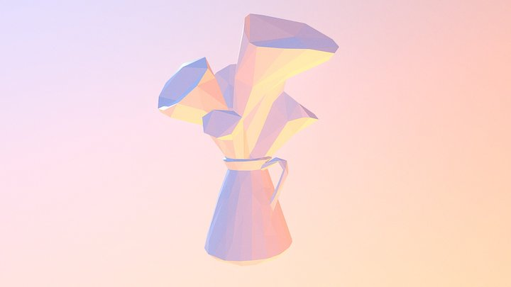 Kettle with Flowers 3D Model