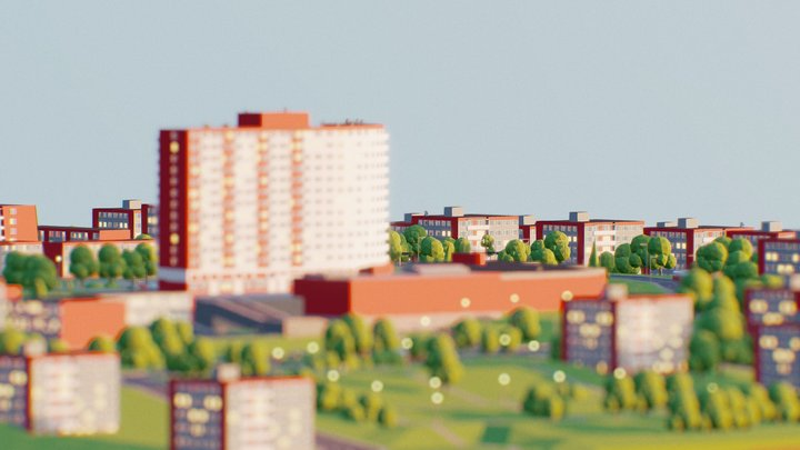 My Hometown Zlín (day) 3D Model