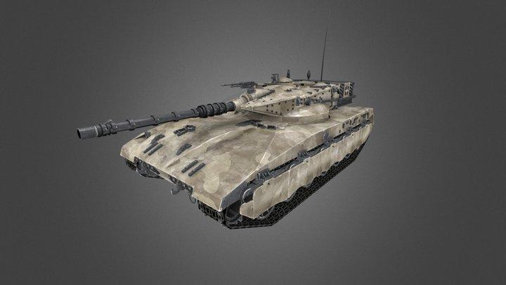 Merkava Tank 3D Model
