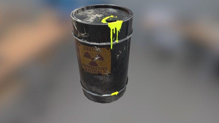 Radioactive Metal Barrel 3D Model