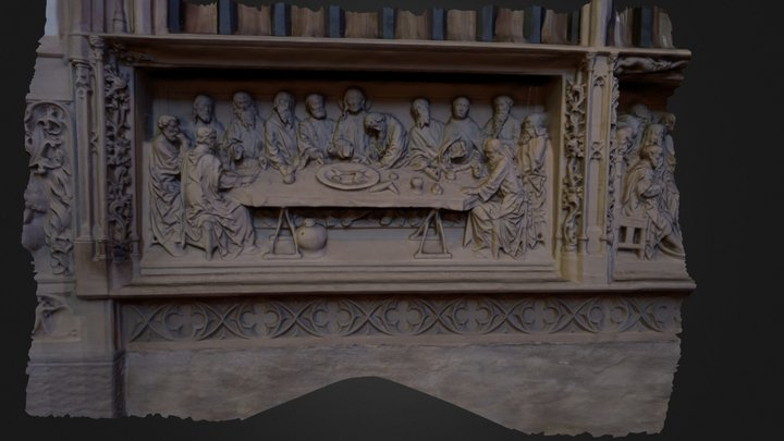 The Last Supper 3D Model