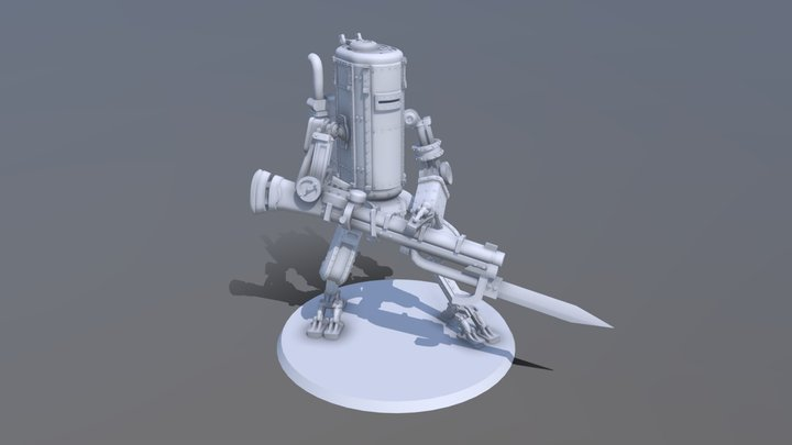 Iron Harvest Smialy Mech 3D Model