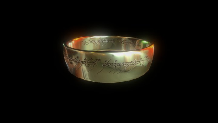 LOTR - Ring of Sauron 3D Model