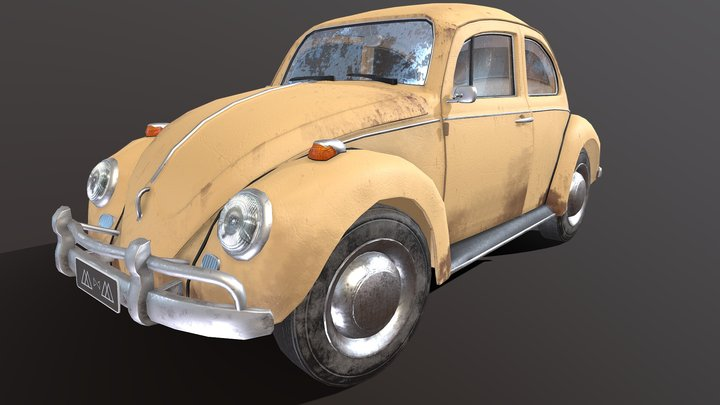 Beetle/Fusca (Version 2) 3D Model