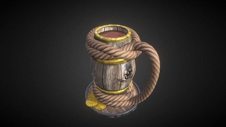 Old GDC Beer Bust Challenge - Pirate Beer Stein 3D Model