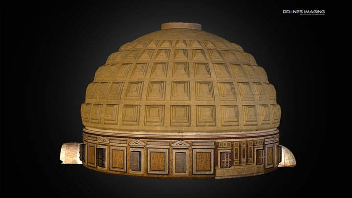 Dome of Pantheon - Rome 3D Model