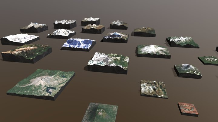 Summits of The World 3D Model