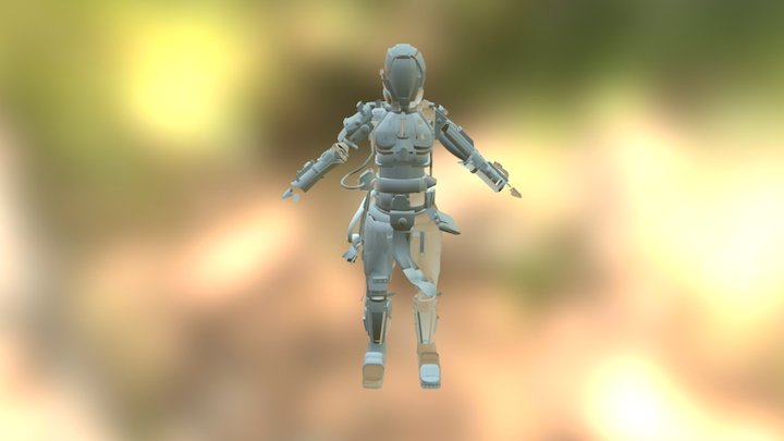 Armor unwrapped. 3D Model