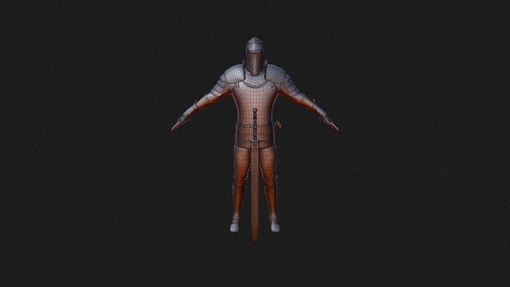 Knight - 3D Model- T Posing 3D Model