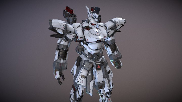 Assault Mech Posed 3D Model