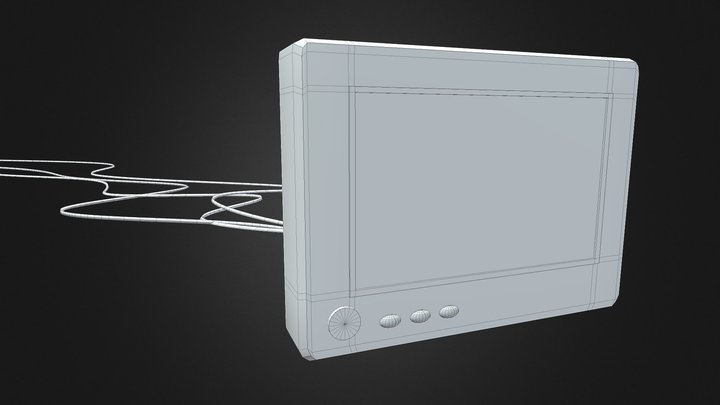 Display Monitor untextured 3D Model